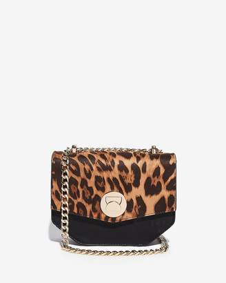 Express Leopard Turnlock Shoulder Bag