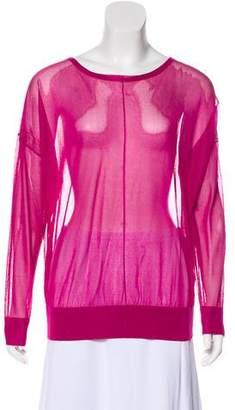 Helmut Lang Semi-Sheer Long Sleeve Top