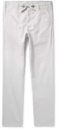 Hartford Troy Slim-Fit Cotton-Chambray Drawstring Trousers