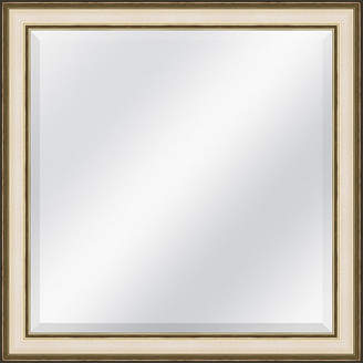 Asstd National Brand Champagne Speckled Beveled Plate Square Mirror