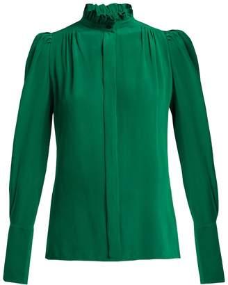 Isabel Marant Lamia ruffle-trim silk blouse