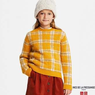 Uniqlo Kid's Checked Jacquard Long-sleeve Sweater (ines De La Fressange)