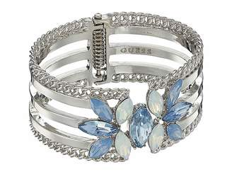 GUESS Wide Hinge Cuff with Stones Bracelet