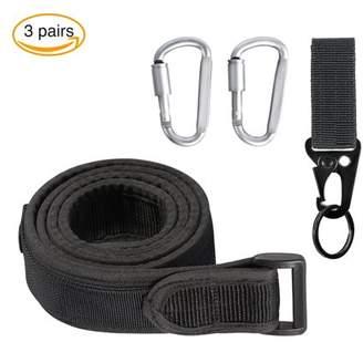 Yosoo Belt Heavy Duty Nylon Webbing,1.5 Inch with Plastic Buckle Adjusts by Hook and Loop Black,Belt Heavy Duty Nylon Webbing