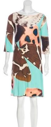 Blumarine Printed Silk Dress