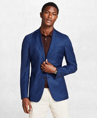 Brooks Brothers Golden Fleece BrooksCloud Gingham Sport Coat