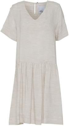 Off-White Mcverdi Loose Short Sleeved Offwhite Summer Dress