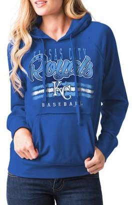 MLB Kansas City Royals Women's Fleece Pullover Graphic Hoodie