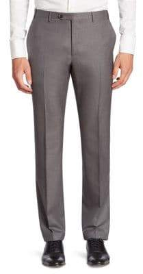 Corneliani Solid Slim-Fit Wool Pants