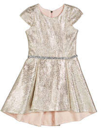 Zoe Sabine Metallic High-Low Dress, Size 7-16