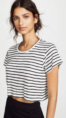 LnA Striped Cropped Boxy Tee