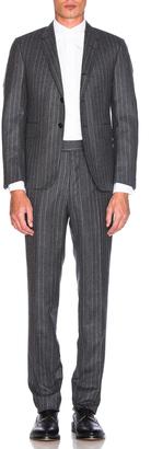 Thom Browne Chalk Stripe Wool Suit $3,400 thestylecure.com