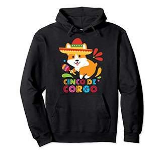 Corgi Cinco De Mayo Funny Mexican Cute Dog Lover Corgo Pullover Hoodie