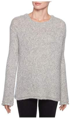 Magaschoni Long Sleeve Fuzzy Pullover