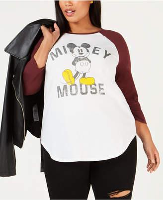 Disney Plus Size Mickey Mouse Raglan Top