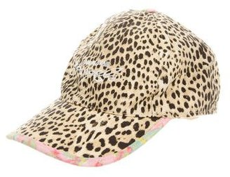 Roberto Cavalli Girls' Canvas Cheetah Print Hat $45 thestylecure.com