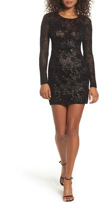 LuLu*s Cor-Set to Go Burnout Velvet Minidress