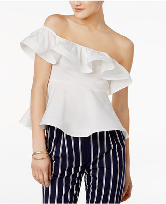 Mare Mare Otto Off-The-Shoulder Ruffled Top $89 thestylecure.com