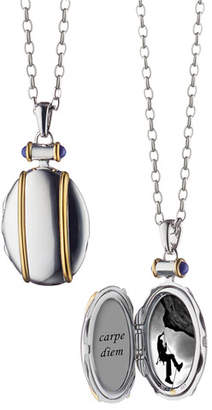 Monica Rich Kosann Sterling Silver and 18k Yellow Gold Locket Necklace, 32""