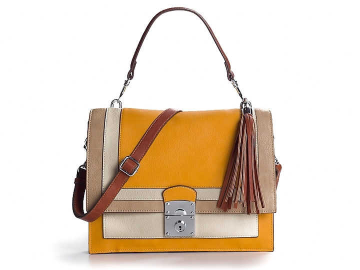 Poppie Jones Lilia Shoulder Bag - Beige/Tan/Yellow