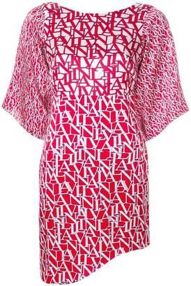 Lanvin logo print dress