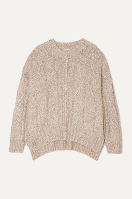 Melange Home LOULOU STUDIO - Oversized Cable-knit Cotton-blend Sweater - Beige