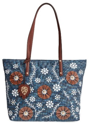 Tommy Bahama Naples Embroidered Tote - Ivory $138 thestylecure.com