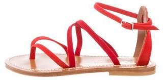 K Jacques St Tropez Suede Thong Sandals w/ Tags