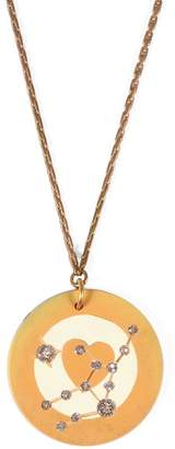 Lulu Frost Vintage ZODIACS POKER CHIP PENDANT NECKLACE - VIRGO YELLOW