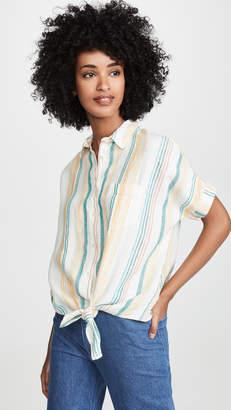 Madewell Linen Tie Front Shirt