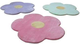 Harriet Bee Baldree 3 Piece Daisy Flower Kids Indoor/Outdoor Area Rug Set Rug