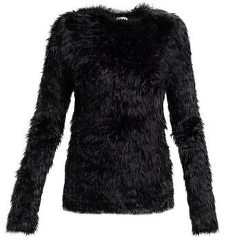 Balenciaga Fluffy Sweater - Womens - Black