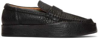 Acne Studios Black Leather Balen Loafers