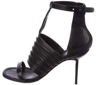 Rick Owens Leather Ankle-Strap Sandals