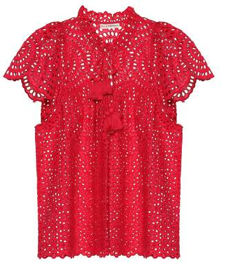 Ulla Johnson Dolly eyelet cotton top