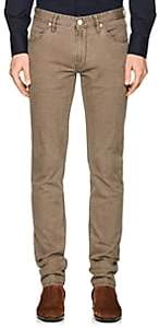 PT05 Men's Stretch-Cotton Canvas Slim 5-Pocket Jeans - Brown