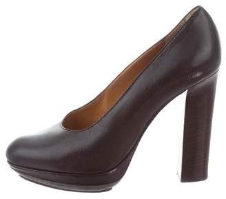 Lanvin Leather Round-Toe Pumps