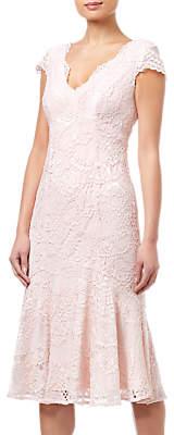 Adrianna Papell Short Lace Dress, Blush