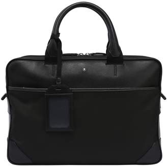 Montblanc Slim Sartorial Jet Leather & Nylon Case