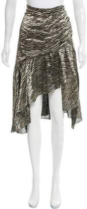 IRO Metallic Silk Skirt