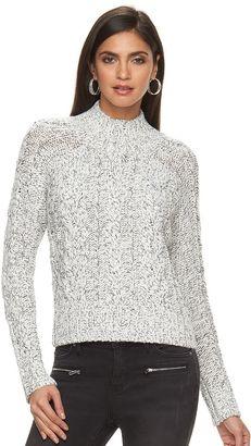 Women's Jennifer Lopez Embellished Mockneck Sweater $58 thestylecure.com