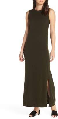CAARA Split Hem Knit Maxi Dress