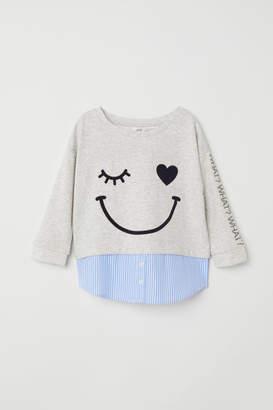 H&M Double-layer Sweatshirt - Gray