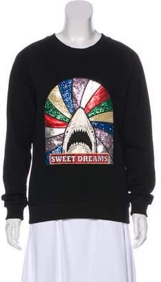 Saint Laurent Appliqué-Accented Sweatshirt