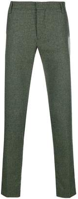Entre Amis houndstooth patterned trousers