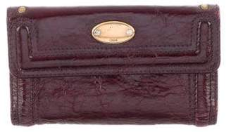 Chloé Textured Leather Wallet