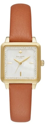 Women's Kate Spade New York Washington Square Leather Strap Watch, 25Mm $195 thestylecure.com