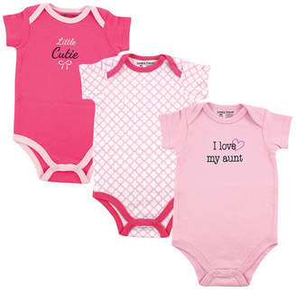 Baby Vision Luvable Friends Bodysuits, 3-Pack, 0-24 Months