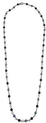 David Yurman Onyx & Hematine Bead Necklace