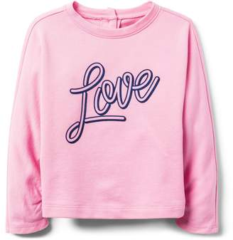 Crazy 8 Crazy8 Toddler Love Dolman Pullover
